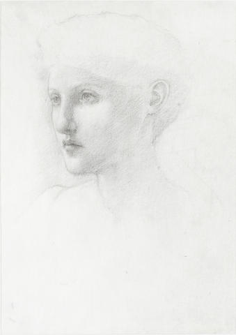 Sir Edward Coley Burne-Jones, Bt. ARA, RWS (British, 1833-1898) A study for the tapestry The achievement of Sir Galahad