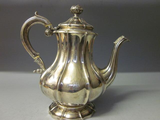 A Scottish silver coffee pot, Edinburgh 1831,