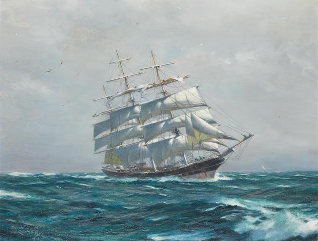 Derek George Montague Gardner (British, 1914-2007) In full sail