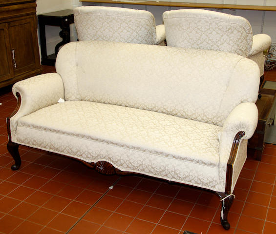 An early 20th Century Austro-Hungarian three piece salon suite,