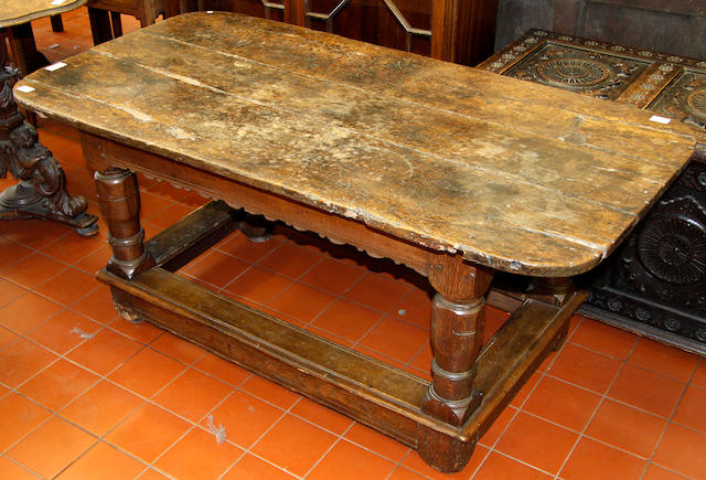 An oak refectory style dining table,