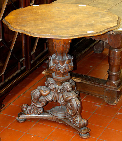 A mid-19th Century oak small centre table,