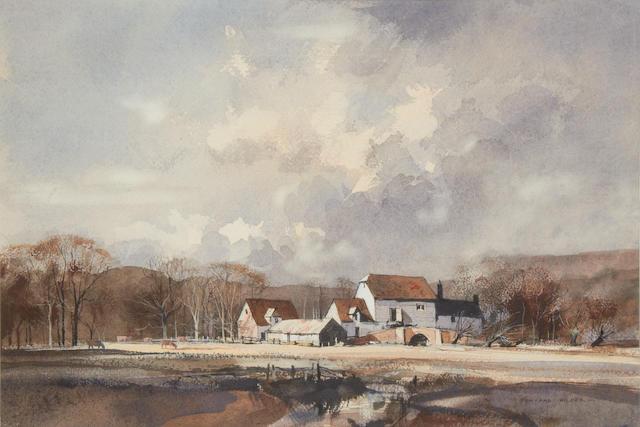 Rowland Hilder (British, 1905-1993) Kent farm