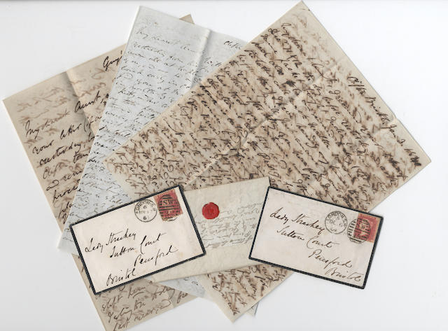 CARLYLE, MAURICE, STERLING and STRACHEY. Correspondence of the religious and philosophical writer Edward Strachey (later third Baronet) of Sutton Court, near Bristol, nineteenth century