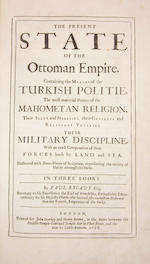 RYCAUT (PAUL) The Present State of the Ottoman Empire