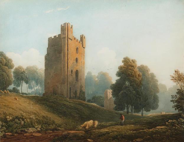 John Varley, OWS (British, 1778-1842) Helmsley Castle, Yorkshire,