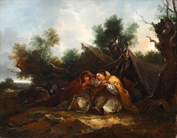 Thomas Barker of Bath (Pontypool 1769-1847 Bath) Gypsy encampment,
