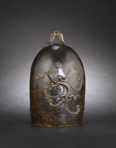 A bronze bell, zhong Ming Dynasty