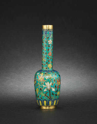 A small cloisonné bottle 17th century 17th century