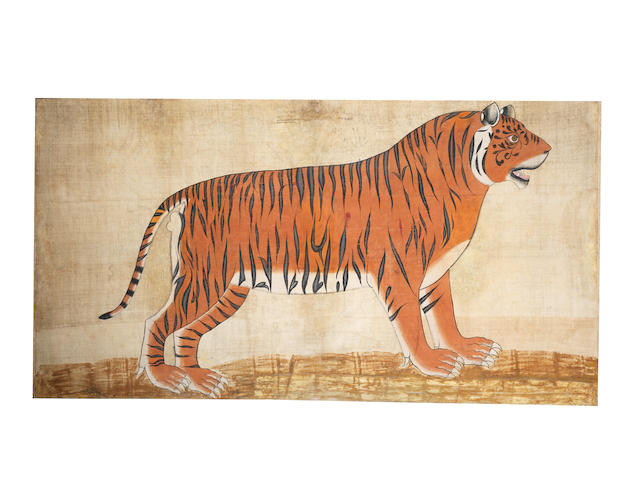 A large portrait of a tiger  India, Mewar Late 18th century