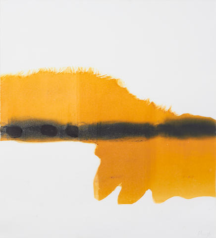 Prunella Clough (British, 1919-1999) Slope Monotype in colours, 1998, on wove, signed in pencil, published by the artist, 506 x 455mm (SH)