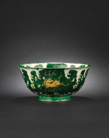 A susancai-glazed bowl Kangxi six-character mark