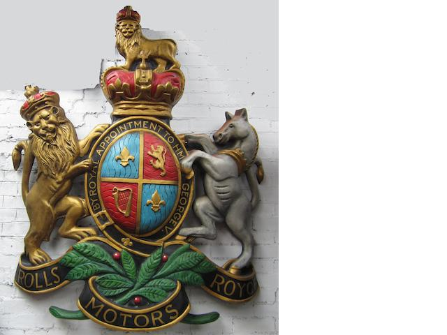 A Rolls-Royce Motors by Royal Appointment coat of arms,