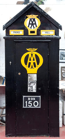 An original AA phone box,