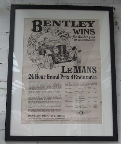 Assorted Le Mans reproduction prints and posters,