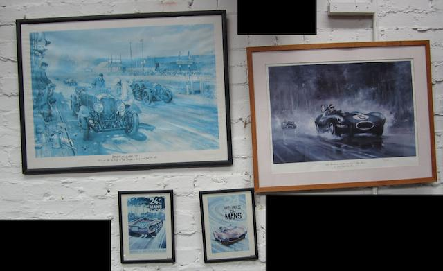 Four Le Mans display items,