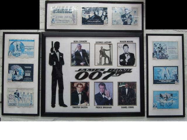 A James Bond framed display,