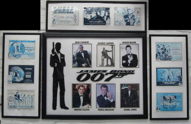 A James Bond framed display,