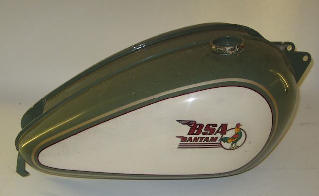 A BSA Bantam fuel tank,