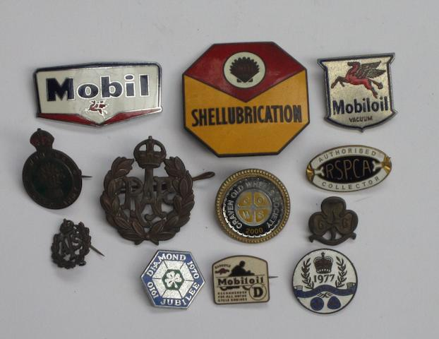 Assorted lapel badges,