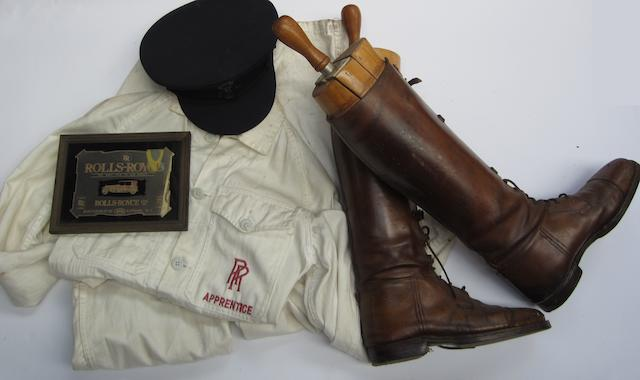 A pair of Rolls-Royce Apprentice overalls,