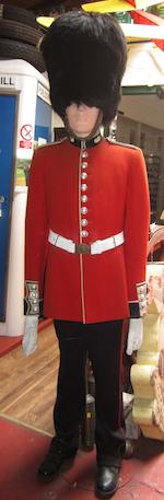 Two museum display mannequins dressed as Grenadier Guards,
