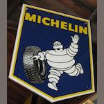 Assorted Michelin advertising signs and items,