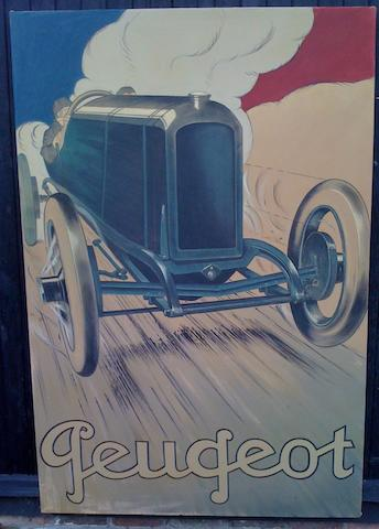 T A Harrison, 'Peugeot', a poster inspired painting,