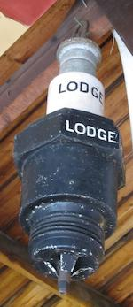 A large Lodge advertising spark-plug, 70cm high,