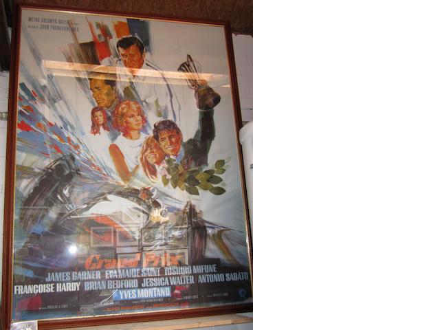 "A ""Grand Prix"" film advertising poster,"