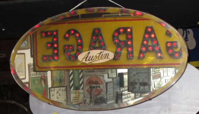 An Austin advertising mirror,