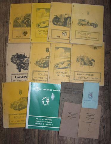 Printed booklets and ephemera,