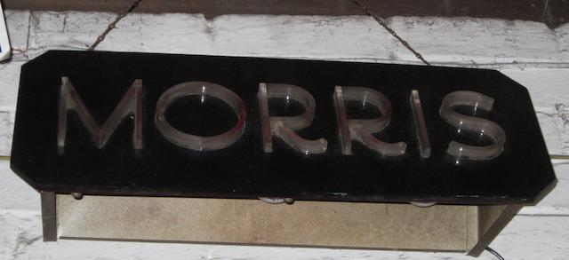A Morris illuminated sign,
