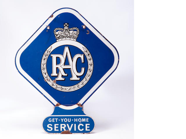 An RAC enamel sign,
