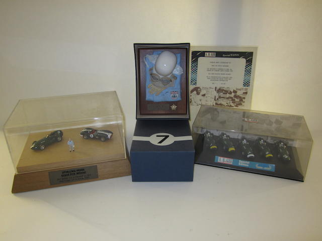 A lot of Stirling Moss related collectables,