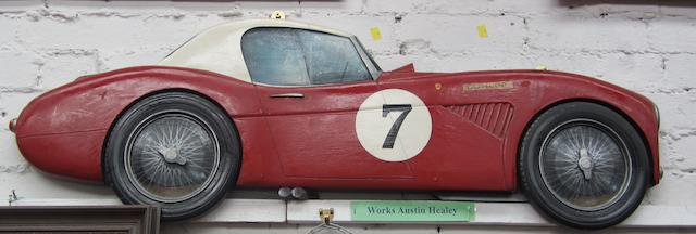 A Works Austin Healey wooden car profile,