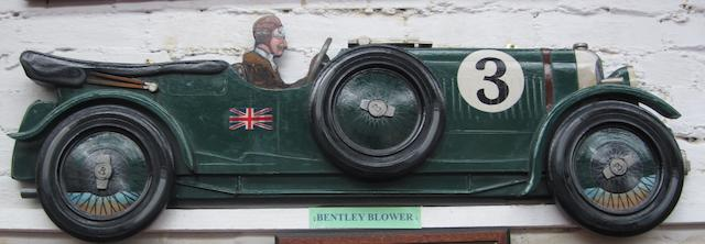 A Blower Bentley wooden car profile,