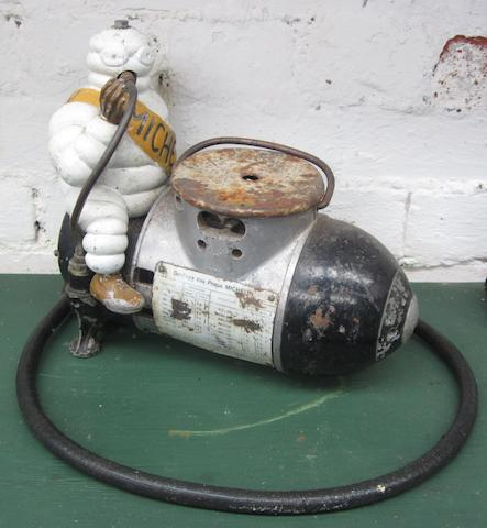 A Michelin portable compressor,