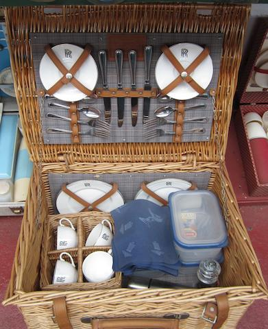 A Rolls-Royce 4-person wicker picnic set, by Gadsby & Sons,
