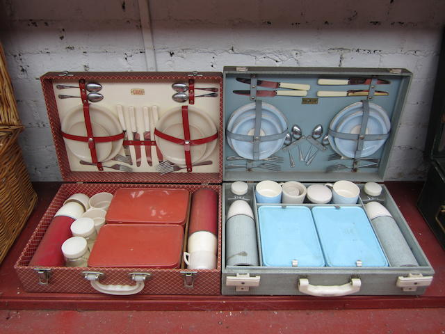 Two four-person picnic sets,