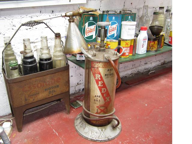 An Essolube oil bottle rack,