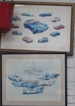 """A '55th Targa Florio 1971"""" poster,"""