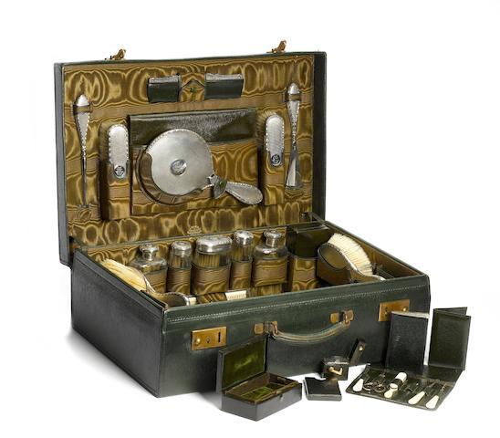 A Finnigans Motoring Companion gentleman's cased vanity set,