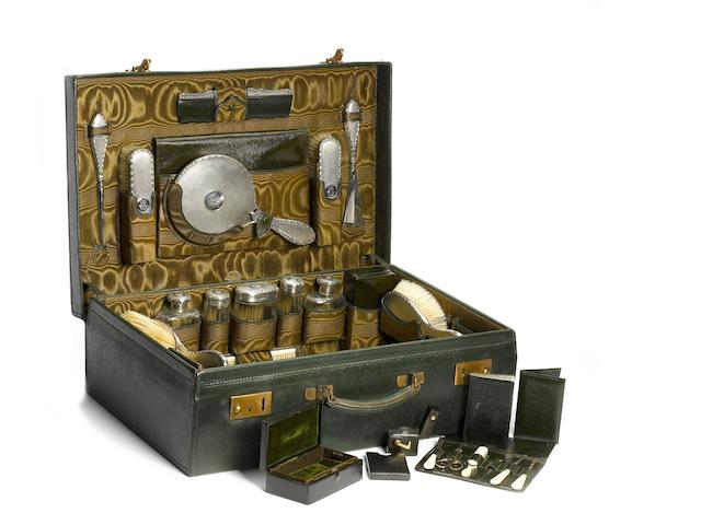 A Finnigans Motoring Companion gentleman's cased vanity set,