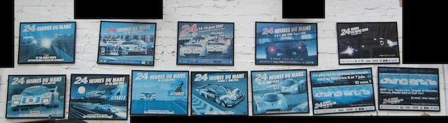 Twelve 24 Heures du Mans posters,