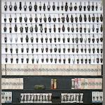 A large display of assorted spark plugs,