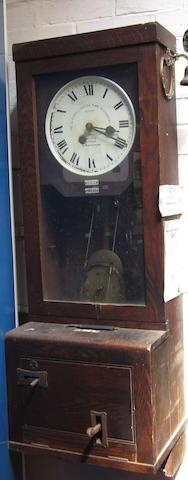 A Gledhill/Brook Time Recorders Limited clocking-in clock,