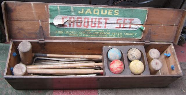 A John Jaques & Sons Croquet Set,