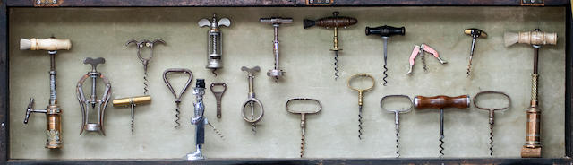 A display of collectable corkscrews,