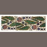 William De Morgan Three 6-inch tile run, mounted